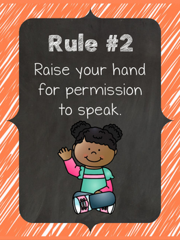 Whole Brain Teaching Rules Posters: Chalkboard Style