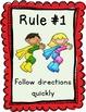 Editable Classroom Rules & Whole Brain Teaching Rules Post