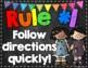 Whole Brain Teaching Rules Posters FREEBIE! {Chalkboard Theme}