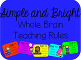 Whole Brain Teaching Rules Posters FREEBIE {Simple and Bright}