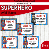 Whole Brain Teaching Rules Posters FREEBIE! {Superhero Theme}