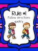 Whole Brain Teaching Rules Posters: Stripes