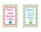 FREE Whole Brain Teaching Rules Posters for the IKEA Tolsby Frames
