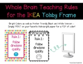 FREE Whole Brain Teaching Rules Posters for the IKEA Tolsb