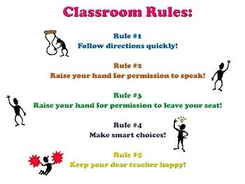 Whole Brain Teaching Rules Printable