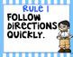 Whole Brain Teaching Rules (Rainbow Stripes)