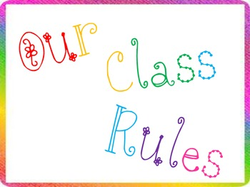 Whole Brain Teaching Rules-Rainbow border
