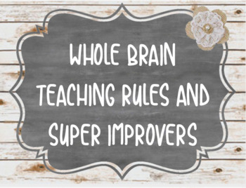 Whole Brain Teaching Rules & Signs (Updated Rules!)