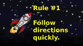 Whole Brain Teaching Rules (Space Themed)