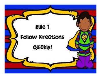 Whole Brain Teaching Rules- Super Hero