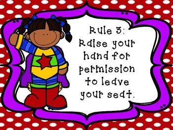 Whole Brain Teaching Rules -Superhero Theme-