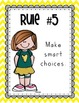 Whole Brain Teaching Rules - Teal-Grey-Yellow Chevron