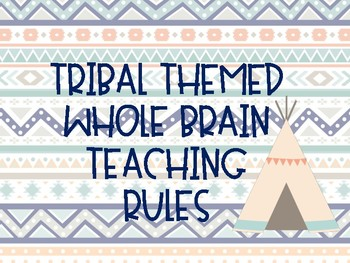 Whole Brain Teaching Rules Tribal Themed