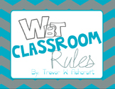 Whole Brain Teaching Rules - Turquoise/Grey Chevron