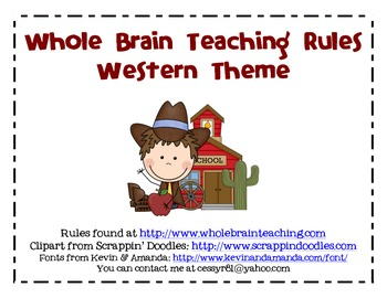 Whole Brain Teaching Rules- Western Theme