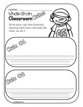 Whole Brain Teaching- Rules Worksheet