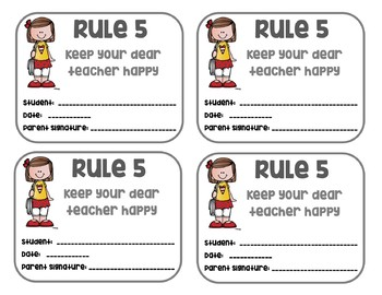 Whole Brain Teaching Rules and Practice cards