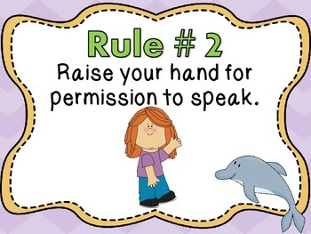 Whole Brain Teaching Rules and Procedures - Ocean Theme
