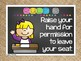 Whole Brain Teaching Rules and Voice Levels FREEBIE in Chalkboard and Burlap