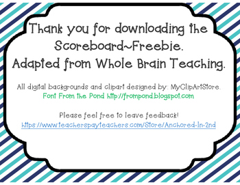 Whole Brain Teaching Scoreboard