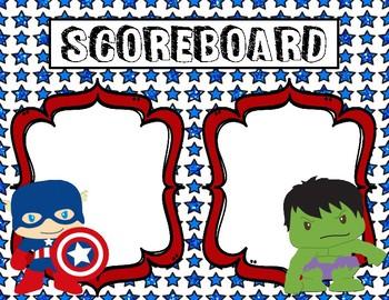 Whole Brain Teaching Scoreboards - Superhero Theme (Avengers)