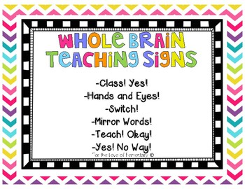 Whole Brain Teaching Signs