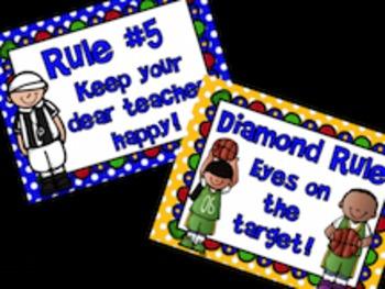 Whole Brain Teaching Sports Themed Class Rules