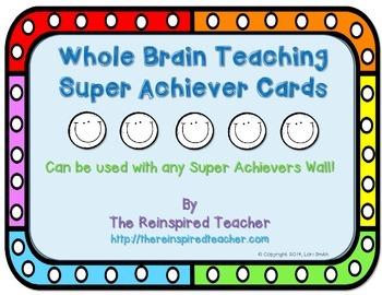 Whole Brain Teaching Super Achiever Card Freebie