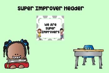 Editable Super Improver Wall Header