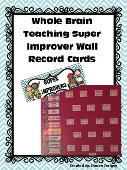 Whole Brain Teaching Super Improver Wall Record Ten Frame Cards