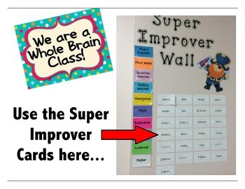 Whole Brain Teaching Super Improver's Cards