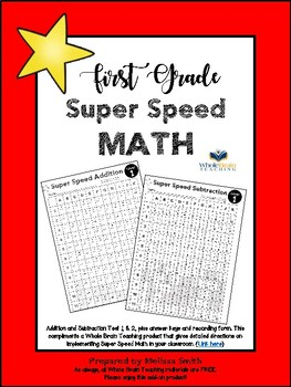 Whole Brain Teaching Super Speed Math +/-
