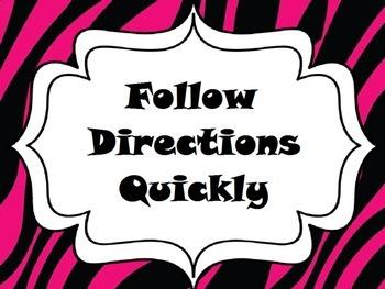 Zebra Print Whole Brain Teaching The 5 Rules
