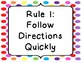 """Whole Brain Teaching """"The 5 Rules"""" Posters"""