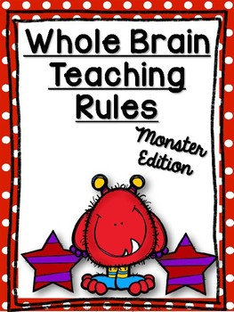 Whole Brain Teaching (WBT) Classroom Rules Posters: Monster Edition!