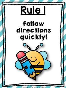 Whole Brain Teaching (WBT) Classroom Rules Posters: Sweet Bees Edition!
