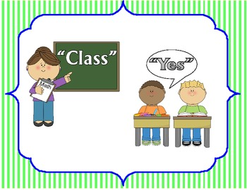 Class rules and signals for classroom walls