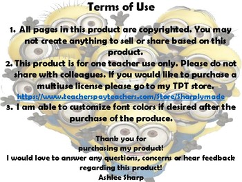 Minion Whole Brain Teaching rules