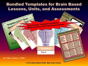 Whole Brain Templates for Lessons, Units and Assessments