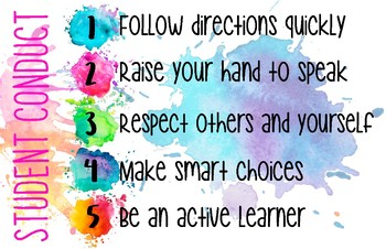 Whole Brain classroom rules & student conduct