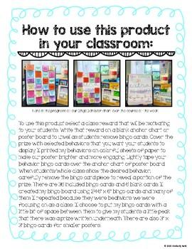 Whole Class Behavior Bingo