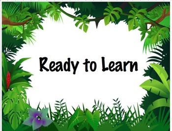 Whole Class Behavior Chart (Rainforest Theme)
