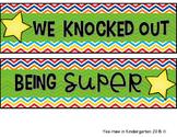 Whole Class Behavior Incentive-Super Hero (Editable)