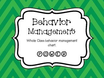 Whole Class Behavior Management POWER Chart Green