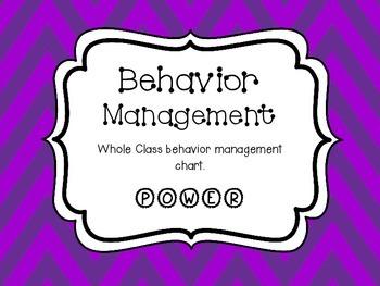Whole Class Behavior Management POWER Chart Purple