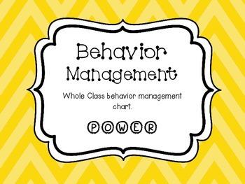 Whole Class Behavior Management POWER Chart Yellow