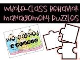 Whole-Class Behavior Management Puzzles