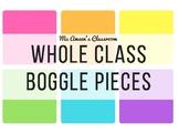 FREEBIE Whole Class Boggle Pieces - Tutti Fruitti Theme