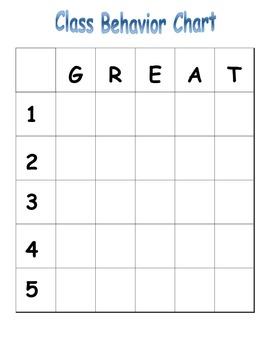 "Whole Class ""GREAT"" Behavior Grid!"