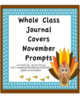 Whole Class JOurnal Covers-NOVEMBER PACK